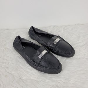 Coach Fredrica Black Leather slip on loafers 9.5